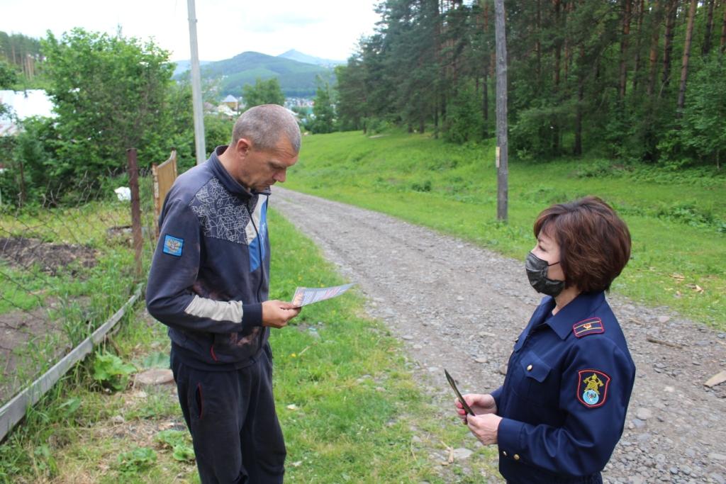 Совместный рейд по социально-неблагополучным семьям города Горно-Алтайска.